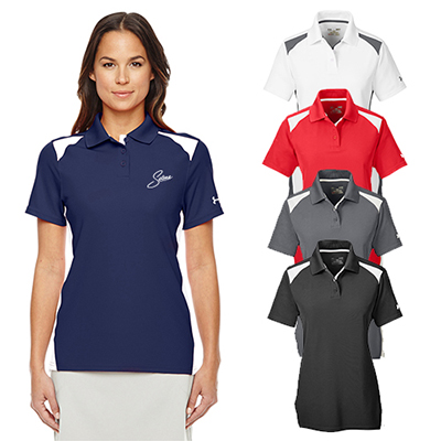 under armour ladies team colorblock polo