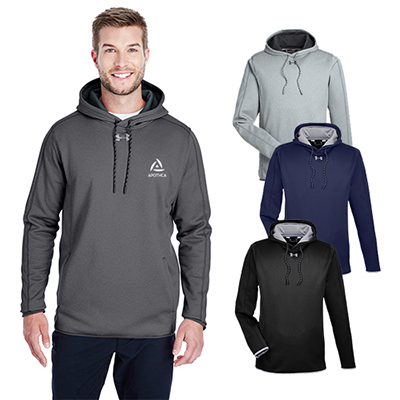 21229caf Imprinted under armour men's double threat armour fleece hoodie ...