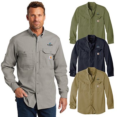carhartt force ridgefield solid long sleeve shirt