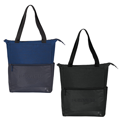 tranzip perforated zippered computer tote