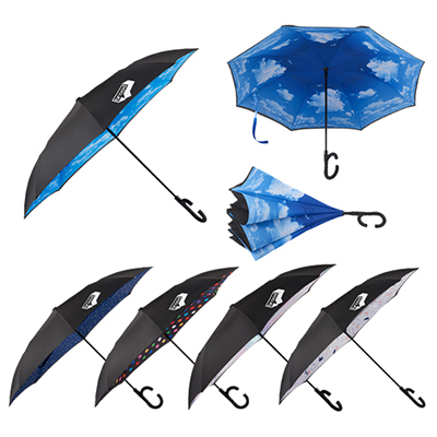 48 auto open designer inversion umbrella
