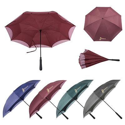 48 auto close heathered inversion umbrella