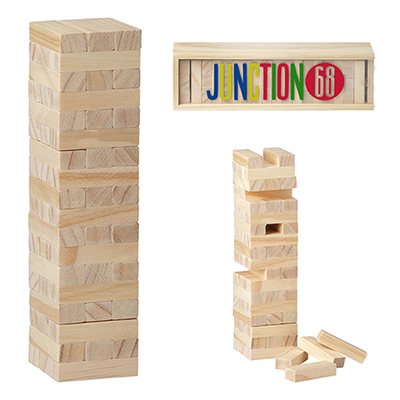 tumbling tower wood block stacking game