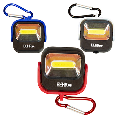 carabiner cob light with cover