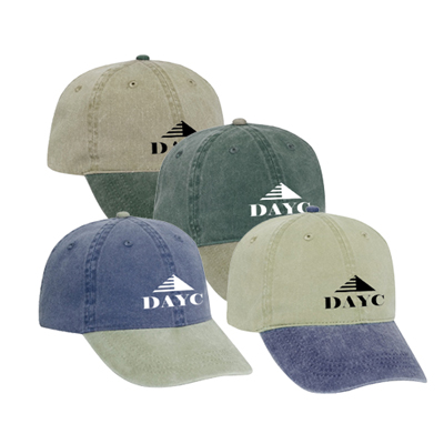 Washed Cotton Cap Two-Tone Color