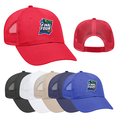c9faba21a Promotional six panel low profile mesh back trucker hat | Imprinted ...