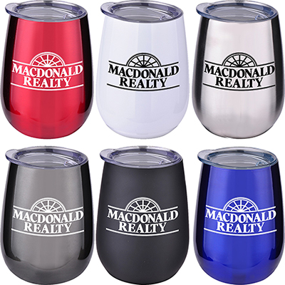 10 oz. stainless stemless wine tumbler
