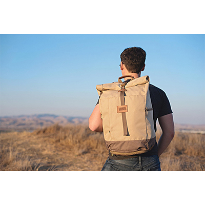 el dorado roll top backpack (tan)