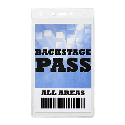 toledo clear backstage pass fits 4 x 7-1/4 insert