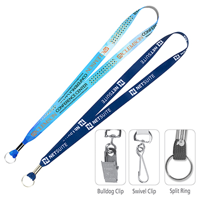 3/4 Super Soft Polyester Sublimation Lanyard