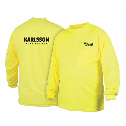 Hi Vis Long Sleeve Lime T Shirt