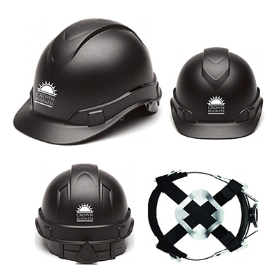 ridgeline graphite pattern black hard hat