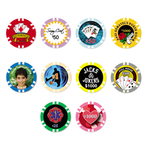 12 stripe poker chip