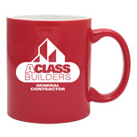 22786RO - 11 oz Hampton Mug - Red/Orange