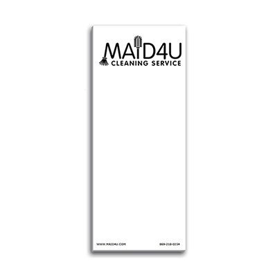 paper note pad w/ magnet 3 1/2 x 8 1/2