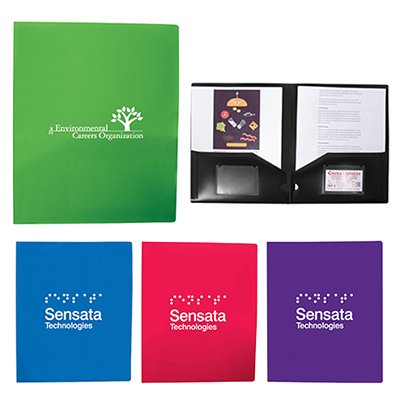 2 Pocket Folder With Business Card Slots