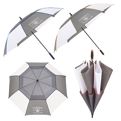 60 heathered sport auto open golf umbrella