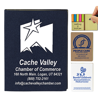 loomis small recycled paper cover sticky notes & flags