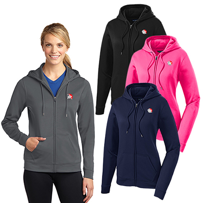 Sport-Tek® Ladies Sport-Wick® Fleece Full-Zip Hooded Jacket