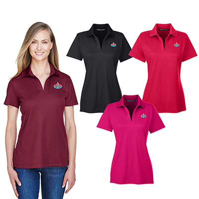 devon & jones crown lux performance™ ladies plaited polo