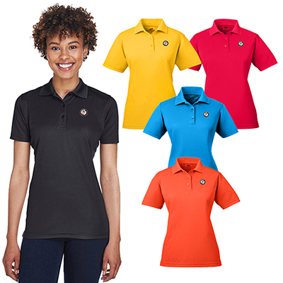 ultraclub ladies cool & dry mesh pique polo