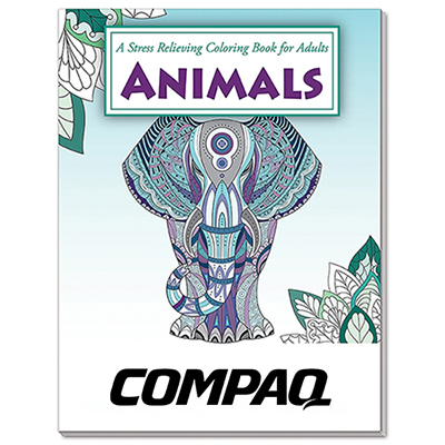 Animals Stress Relieving Coloring Book for Adults