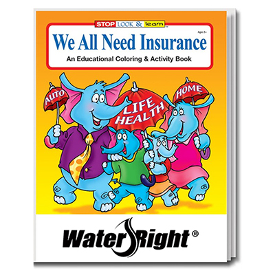 we all need insurance coloring book