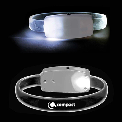 gecko led  bracelet - white