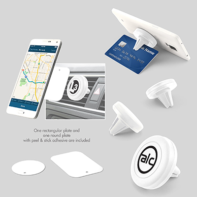 magnetic air vent phone holder - white
