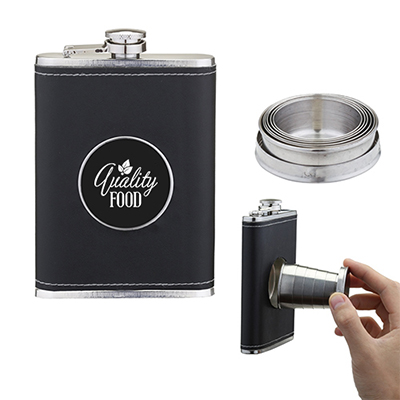 8 oz collapsible shot cup flask
