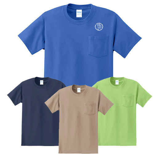 Port & Company Pocket T (Colored)
