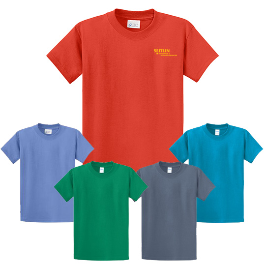 port & company colored t-shirt