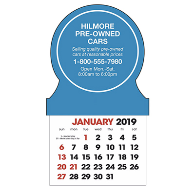 stick-up calendars (circle)