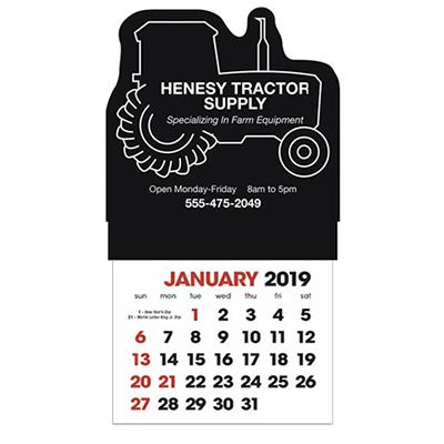 stick-up calendar tractor