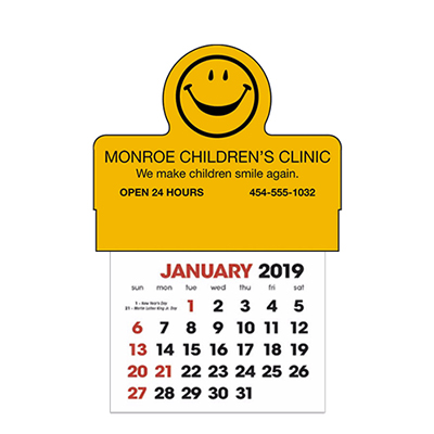 stick-up calendars smiley face