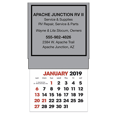 stick-up calendars (square)