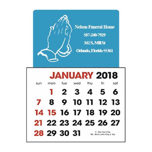 Stick-Up Calendar Praying Hands