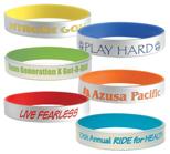 Vinyl Bracelets, Custom Made Silver Silicone Bracelets