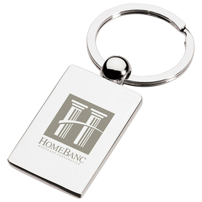Perspective Rectangle Key Ring
