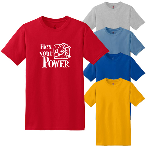 hanes® - comfortsoft® 100% cotton t-shirt (color)