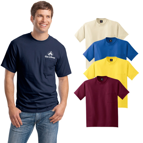 Hanes® Colored Pocket T