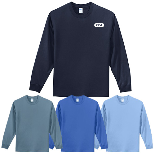 port & company® - long sleeve essential tee (color)