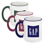 Promotional Coffee Mugs, Two-Tone Personalized Coffee Cups
