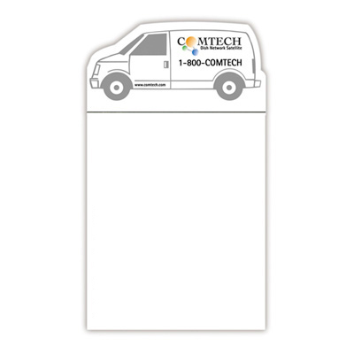 bic® magnetic notepad (van shape)