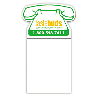 Bic® Phone Shape Magnet/Notepad
