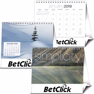 Promotional Simplicity Large Desk Calendar 2019 Promo Direct