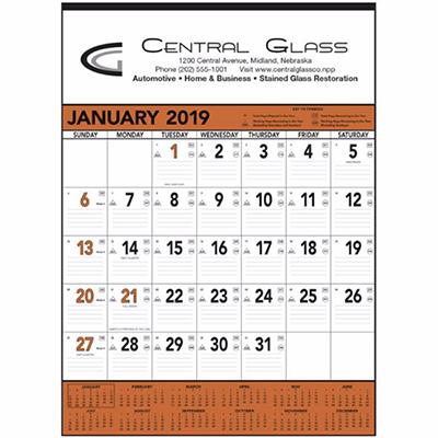 orange & black memo calendar