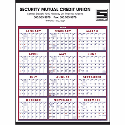 Promotional Span-A-Year Calendar 2020 - Promo Direct