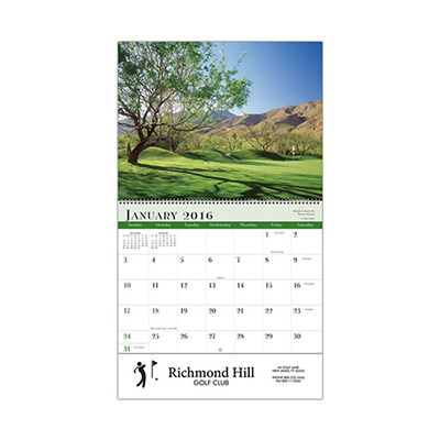 Golf Sprial Wall Appt Calendar