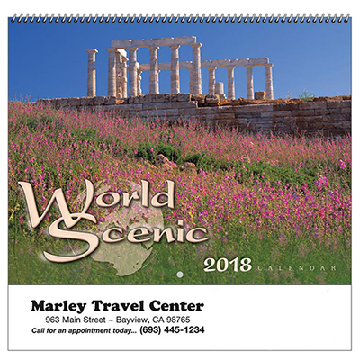 World Scenic Sprial Wall Appt Calendar